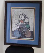 """Graciela Rodo Boulanger -""""After School"""" Bicycle Girls -Signed Print Framed Art"""