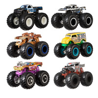 Hot Wheels Monster Truck 1:64 Scale Demolition Doubles Giant Wheels 2 pack