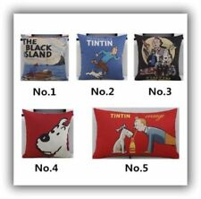 Tintin & Snowy Cushion Covers, 4 variations, 45cm x 45cm, UK Seller, BNWT