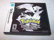 Pokemon Black Version (Nintendo DS) Lite DSi XL 3DS 2DS w/Case & Manual
