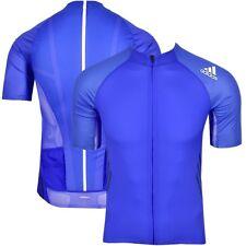 Adidas adiZero Herren Fahrrad Jacke Rad Trikot Bike Jersey Shirt Cycling blau
