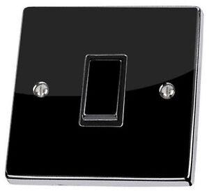 Plain Black Gloss Light Switch & Power Socket Stickers skin decal vinyl cover