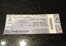 Mookie Betts MLB Debut + 1st Hit UNUSED Ticket Boston Red Sox vs Yankees 6/29/14