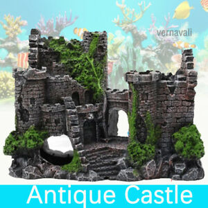 Fish Tank Aquarium Hiding Cave Resin Castle Tower Ornament Landscape Décor