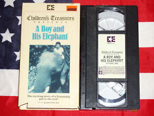 Children's Treasure A Boy and His Elephant VHS Video Tape Rare