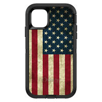 OtterBox Defender for Apple iPhone (Pick Model) Red White Blue USA Flag Old