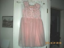 vintage dress hand made pink party church dance Lace & Tulle A-Line