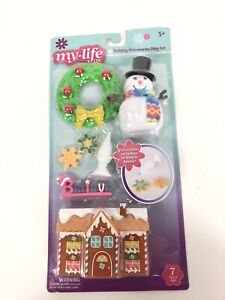 My Life As Doll Christmas Accessory Set Decorations Snowman Present Holiday