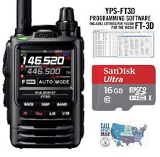 Yaesu FT-3DR Dual Band HT Radio w/ RTS Programming Software & 16GB MicroSDHC