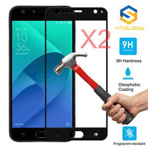 2pcs 9H+ Full Covered Tempered Glass Film For Asus Zenfone 4 Selfie Pro ZD552KL