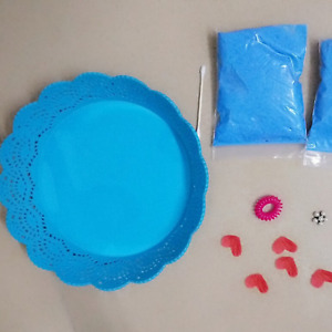Baby Handprint & Footprint Air-Drying Clay - Blue, Pink or White - UK Stock