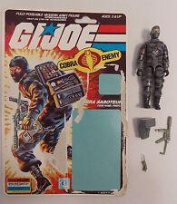 COMPLETE VINTAGE GI JOE FIREFLY ACTION FIGURE W/BACKER CARD HASBRO 1984