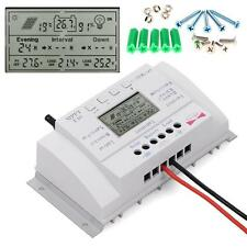 Solar LCD Display 40A 500W/12V 1000W/24V MPPT Charge Controller Time+SCREW US WT