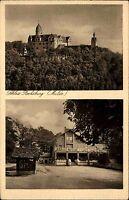 Rochsburg Mulde Sachsen AK ~1920/30 Schloss Gasthof Zur Sonne und Burg Ansicht