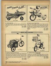 1957 PAPER AD Pedal Car FBI Radio Cruiser Eska Farm Tractor Auper Sonic Jet ++
