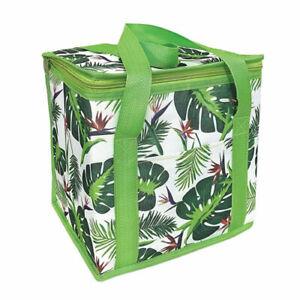 Large Leaf Design Cooler Bag Insulated 12L Large Summer Cooler Beach Bag Summer