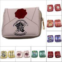 Men's Zipper Wallet Harry Potter Short Wallet Card Coin Bag Wallet Gift Otaku