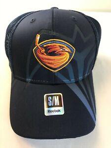 NOS Atlanta Thrashers Hockey NHL Adult Reebok Hat Navy Fitted Mesh  D1