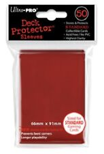 Ultra Pro 50 pochettes Deck Protector Sleeves Rouge carte standard 66x91mm 26727