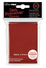 Ultra Pro 50 Pouches Deck Protector Sleeves Red Card Regular 2 19/32x3 19/32in