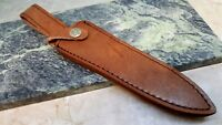 "Leather Fixed Blade Dagger Knife Belt Sheath for up to 7"" Double Edge Blades"