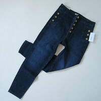 NWT J Brand Natasha in Untamed Sky High Crop Skinny Buttonfly Stretch Jeans 31