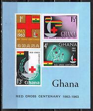 Ghana African Red Cross Souvenir Sheet 1963 MNH