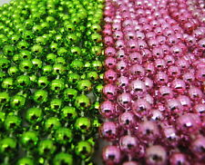 New Listing2 Dozen Mardi Gras Beads Lime Green & Baby Pink Baby Shower Party 24 Necklaces