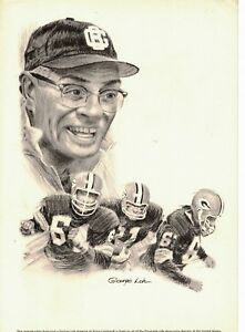 1966 Vince Lombardi, Green Bay Packers Equitable Life 8x11 print