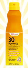 Walgreens Hydrating Continuous Spray Sunscreen SPF 30 5.5 OZ