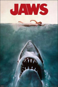 "Jaws – Classic Movie Poster – Steven Spielberg – 91 x 61 cm 36"" x 24"""