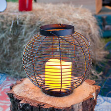 Outdoor Battery Operated Flickering LED Candle Lantern Light for Garden Patio