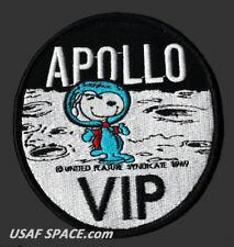 "SNOOPY - APOLLO VIP - NASA - 4"" MOON LANDING SPACE PATCH - MINT *****"