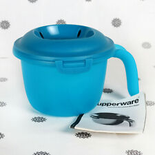 NEW Tupperware Individual Microwave Rice Cooker Light Blue with Instructions