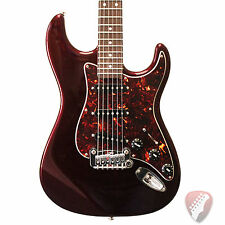 New! G&L USA Legacy Electric Guitar in Ruby Red Metallic with Matching Headstock