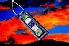 UNIQUE  Southwestern style Channel inlay necklace,SIGNED piece, Apache artist.
