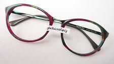 Brille Brillenfassung Plastikrahmen rot grün oval unisex Marke Nigura size M