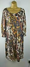 East Animal Print Browns And Cream Tunic Dress Size 10
