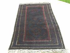 "Vintage Baluchi Rug Carpet 38""x83"" Purple Field Latch Hook Classical Design Wool"