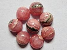 Rhodochrosit Cabochon rund, 1 Stück aus Konvolut, ca. 8,3 - 8,6mm