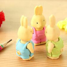 Novelty Cartoon Mini Cute Rabbit Erasers Office School Rubber Eraser Kids Gift