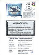 1955 World Series 40th Anniv Johnny Podres Autographed Commemorative Envelope