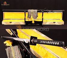 Full Tang Blade Japanese Samurai Sword Ninja 1060 High Crabon Steel Cut Cut Tree