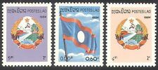Laos 1984 National Day/National Flag/Coat-of-Arms/Flags/Animation 3v (n40603)