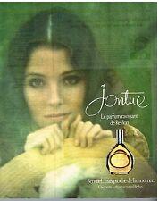 """Publicité Advertising 1976 Parfum """"Jontue"""" de Revlon"""