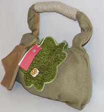 Borsa Thun tessuto originale beige verde piccola spalla donna