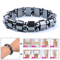 Black Magnetic Hematite Bracelet Therapy Healthy Men's Women's Fitness Bangle
