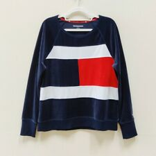 NEW Tommy Hilfiger| Women's Velvet Colorblock Sweatshirt L