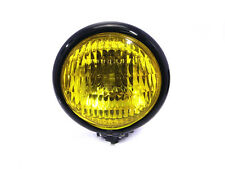 Motorbike Motorcycle Headlight & Yellow Lens - Vintage Retro Cafe Racer Project