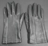 WOMEN'S VINTAGE GENUINE LEATHER BLACK DRIVING GLOVES ONE SIZE